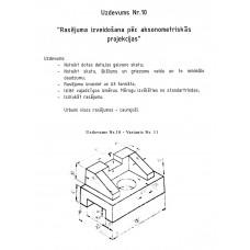 AutoCAD, uzdevums Nr.10, 11. variants
