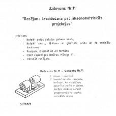 Rasējums, uzdevums Nr.11, 11. variants
