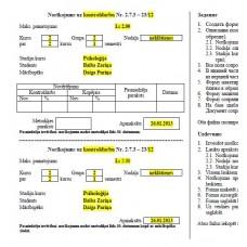 Laboratorijas darbs 1, norīkojums, excel, forma