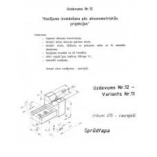 AutoCAD, uzdevums Nr.12, 11. variants