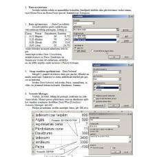 Lab 8, Excel, Datu apstrāde
