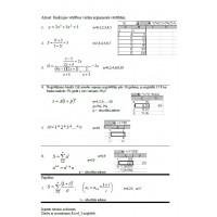Lab 4, Excel, algebriskas izteiksmes