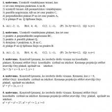 Analītiskā ģeometrija telpā, 1. variants