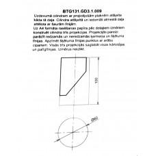 BTG131. GD3 .1.009 cilindra rasējums