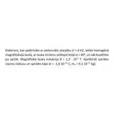 Elektromagnētisms, kontroldarbs