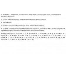 CPP, kārtošanas algoritmi