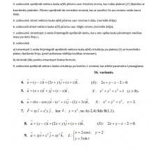 2. veida linijintegraļi, virsmas integrāļi, vektoru lauks, 16. variants