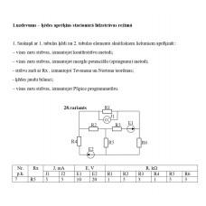 1.uzdevums – ķēdes aprēķins stacionārā līdzstrāvas režīmā, 28. attēls, p.k. 7