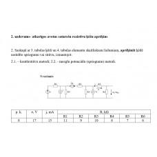 2. uzdevums- atkarīgos avotus saturošu rezistīvu ķēžu aprēķins, 9. attēls, p.k. 8