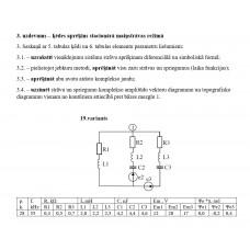 3. uzdevums – ķēdes aprēķins stacionārā maiņstrāvas režīmā, 19. attēls, p.k. 28