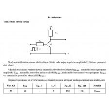 14. uzdevums, Tranzistora slēdža shēma