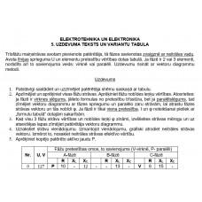 ELEKTROTEHNIKA UN ELEKTRONIKA  5. UZDEVUMS