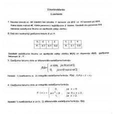 2. kontroldarbs, 1. variants
