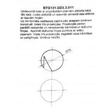 BTG131. GD3 .3.011 lodes rasējums