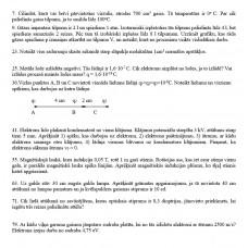 Fizika, mājasdarbu uzdevumi neklātniekiem