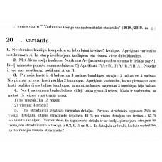 """1. mājas darbs """"Varbūtību teorija un matemātiska statistika"""", 20. variants"""