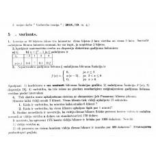 2. mājas darbs Varbūtību teorija, 5. variants