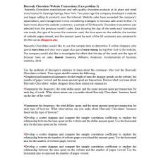 Heavenly Chocolates Website Transactions (Case problem 3)