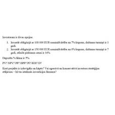 10.  uzdevums:, obligācijas