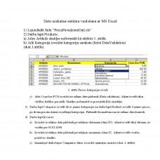 Datu uzskaites sistēmu veidošana ar MS Excel