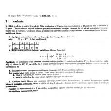 """2. mājas darbs """" Varbūtību teorija """" 2.  variants"""