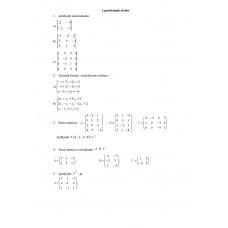 Determinanti, matricas (1. patstāvīgais darbs)
