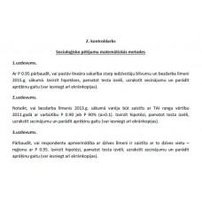 2. kontroldarbs Socioloģisko pētījumu matemātiskās metodes