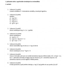 2. pārbaudes darbs. Logaritmiskie vienādojumi un nevienādības