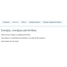 Enerģija, enerģijas pārvērtības.