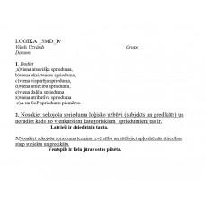 Loģika, 3 MD