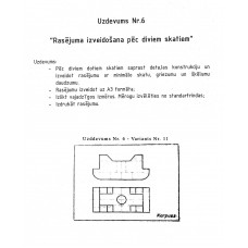 AutoCAD, uzdevums Nr.6, 11. variants