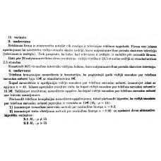 15. variants, hipotēžu pārbaude