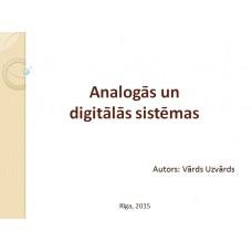 Analogās un digitālās sistēmas